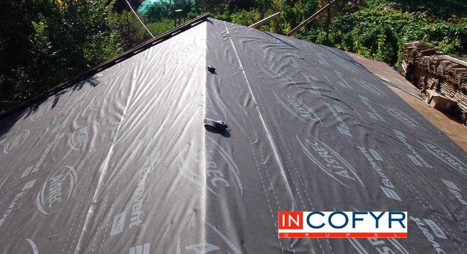 Impermeabilizaci n de cubierta con tela asf ltica - Materiales para tejados ...