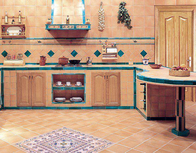 Reformas de cocinas rusticas estilo antiguo for Loseta para cocina