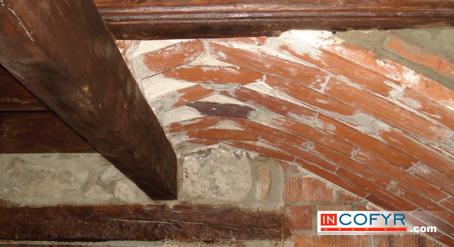 Madera vieja en interiores