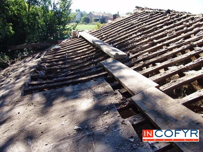 Reforma de una tejado viejo