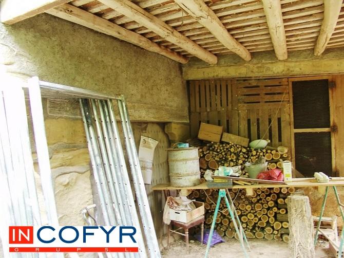 techo con vigas de madera