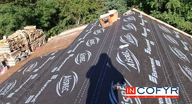 Material para impermeabilizar el tejado