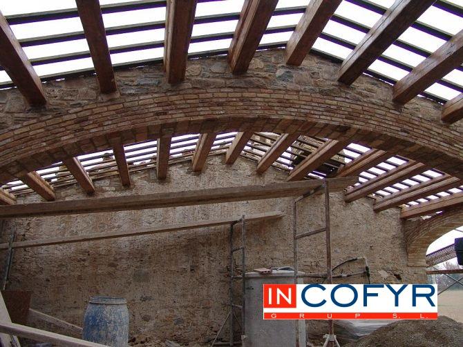 Arco rustico en techos de madera Arco carpanel de 3 puntos