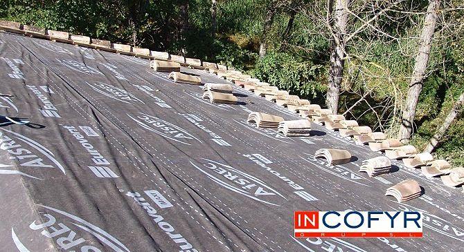 Impermeabilizaci n de cubierta con tela asf ltica - Cambiar tejado casa antigua ...