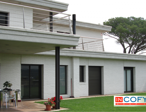 Obra vista blanca en casas de diseño
