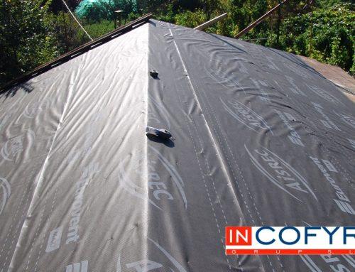 Impermeabilización de la cubierta con tela asfáltica