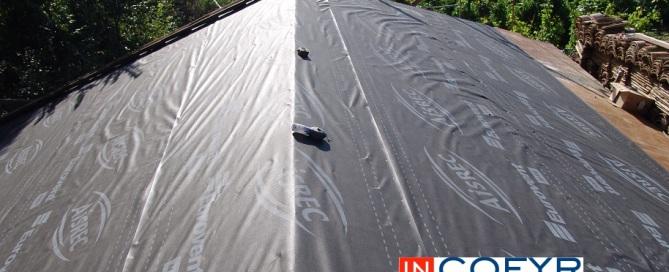 Impermeabilizacion de un tejado con tela asfaltica